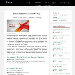 Oracle WebCenter Content Training