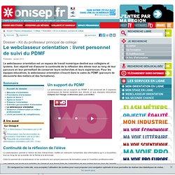 Le webclasseur orientation : livret personnel de suivi du PDMF