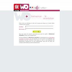 Webclasseur Orientation Nice - Connexion