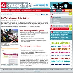 Le Webclasseur Orientation