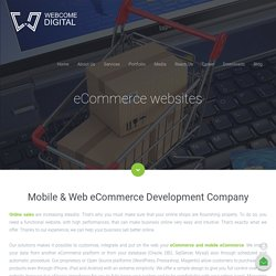 Webcome Digital – eCommerce Website Design & Development Company India