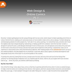 Webcomic Site Design Pt. 1 - SelfCentEnt : Schlock Works