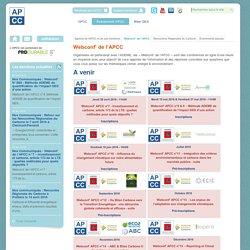 Webconf' de l'APCC