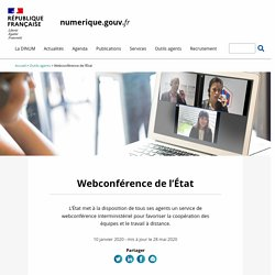 Webconférence de l'État