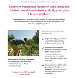 Webconférence de Permaculture Design