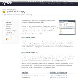 Cyotek WebCopy - Copy websites locally for offline browsing
