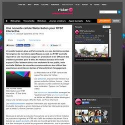 Une nouvelle cellule Webcréation pour RTBF Interactive - RTBF Actualite