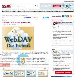WebDAV — Fragen & Antworten - com! professional