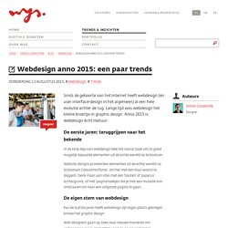 Webdesign anno 2015: een paar trends - Blog