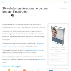 30 webdesign de e-commerce pour booster l'inspiration