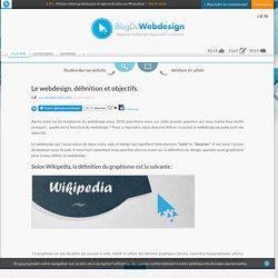 Le webdesign, définition et objectifs.