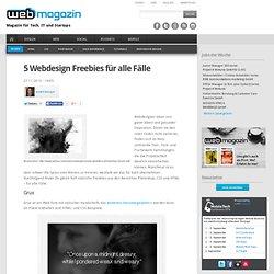 5 Webdesign Freebies für alle Fälle
