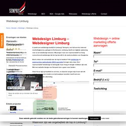 Webdesign Limburg - Webdesigner Limburg