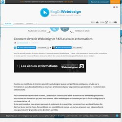 Comment devenir Webdesigner ? #2 Les écoles et formations - Blog Du Webdesign Magazine