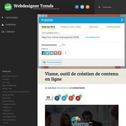 Visme, outil de création de contenu en ligne