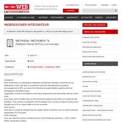 Webdesigner Intégrateur