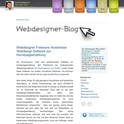 Webdesigner Freeware: Kostenlose Webdesign Software