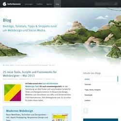 25 neue Tools, Scripte und Frameworks für Webdesigner – Mai 2013
