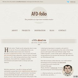 AFD-Folio - The portfolio of a type lover website maker