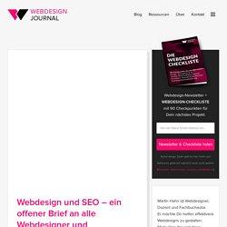Webdesign und SEO – ein offener Brief an alle Webdesigner und Webprogrammierer - Webdesign Journal
