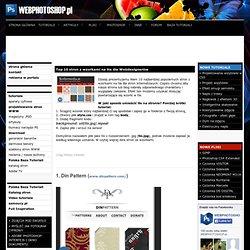 Top 10 stron z wzorkami na tła dla Webdesignerów - WEBPHOTOSHOP.PL