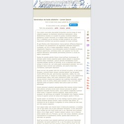 Lorem ipsum : génération de 10 paragraphes de faux texte pour webdesigners ou maquettistes - textes aléatoires