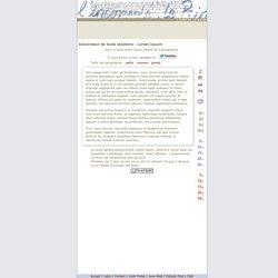 Lorem ipsum : génération de 3 paragraphes de faux texte pour webdesigners ou maquettistes - textes aléatoires
