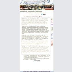 molestum : Lorem Ipsum : générateur de faux texte pour webdesigners