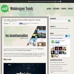 Les sites web incontournables (janvier 2013)