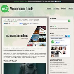 Les sites web incontournables (mars 2013)