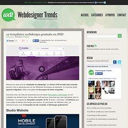 12 templates webdesign en .PSD gratuits