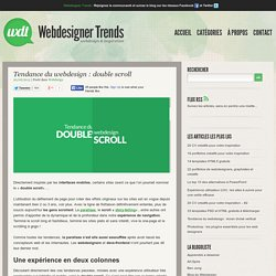 Tendance du webdesign : double scroll