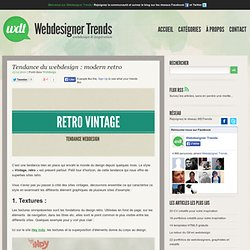 Tendance du webdesign : modern retro