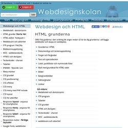 HTML grunderna