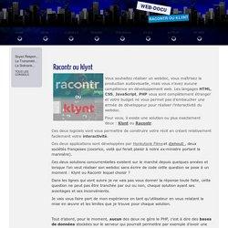 un webdoc sans code? Klynt ou Racontr?