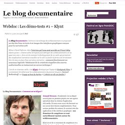 Webdoc : Les démo-tests #1 – Klynt