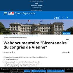 """Webdocumentaire """"Bicentenaire du congrès de Vienne"""""""