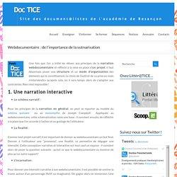 Webdocumentaire : de l'importance de la scénarisation – DocTICE