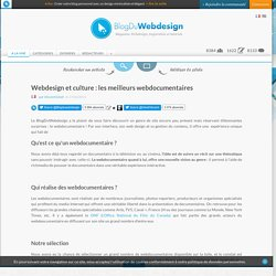 Webdesign et culture : les meilleurs webdocumentaires - webdesign
