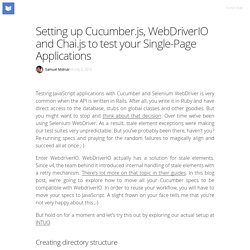 Setting up Cucumber.js, WebDriverIO and Chai.js to test your Single-Page Applications