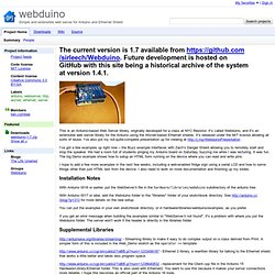 webduino - Simple and extensible web server for Arduino and Ethernet Shield