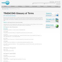 WebEDI - Glossary
