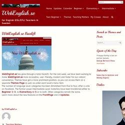 WebEnglish.se Facelift – WebEnglish.se
