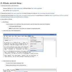 "GPC - John Weber - <span class=""italics"">R</span>, <span class=""italics"">RStudio</span>, and <span class=""italics"">knitr</span> Setup"