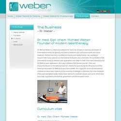 Dr. Weber – Weber Medical – medical laser applications