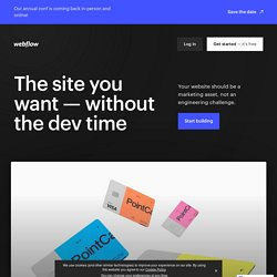 Webflow - Top Responsive Website Builder