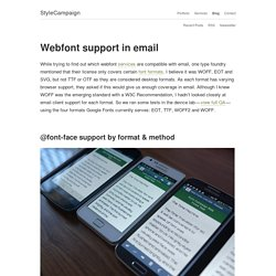 Webfont support in email