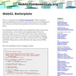 WebGL Boilerplate