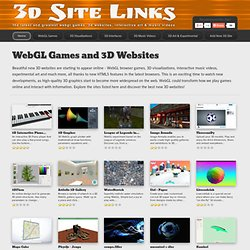 WebGL Games and 3D Websites - 3D Site Links