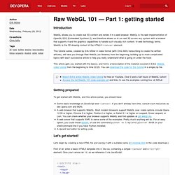Raw WebGL 101 — Part 1: getting started